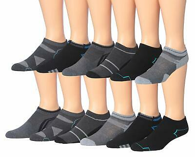 James Fiallo Mens 12-pack Low Cut Athletic Socks Fits 10-13 2894-3