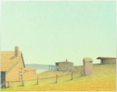 Russell Chatham original lithograph, OLD HOMESTEAD, S/N/D