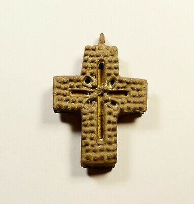Post Medieval Bronze Cross - Encolpion - Wearable Religious Artifact