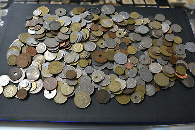 Lot of  1800's  & 1900's Unsearched Old World Foreign Coin Collection