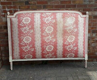Vintage French Style Padded Double Headboard And Valance