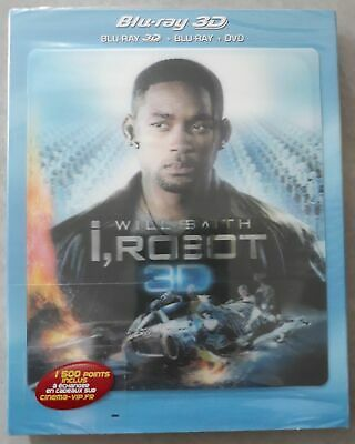 Blu Ray 3D + 2D + DVD : I Robot 3D + Version 2D - NEUF