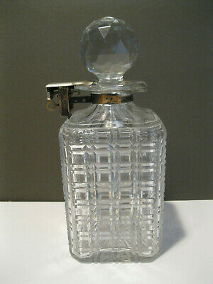 Betjemann's Patent Late 1800'S Lead Crystal Whiskey Decanter With Lock And Key