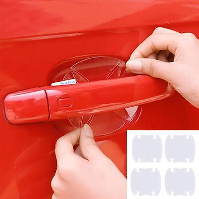4x Universal Invisible Car Door Handle Scratches Protective Protector Films SH