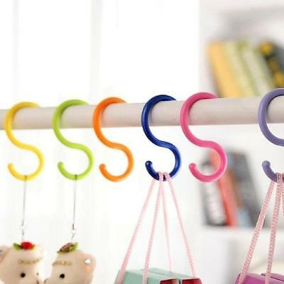 6Pcs Stroller S-Type Multi-Purpose Candy Color Kitchen Hook Hanger SH