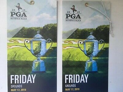 2019 PGA Championship Tickets for Friday Competition Grounds Pass 2 tickets.