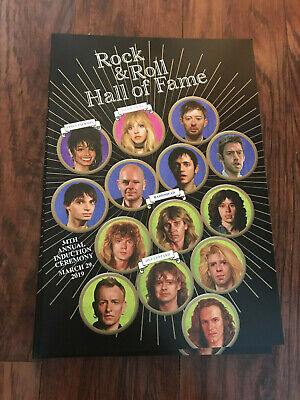 NEW ROCK AND ROLL HALL OF FAME INDUCTION 2019 Stevie Nicks Janet Jackson BOOK