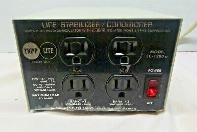 TRIPP LITE LC1200a 4-outlet line Stabalizer Conditioner