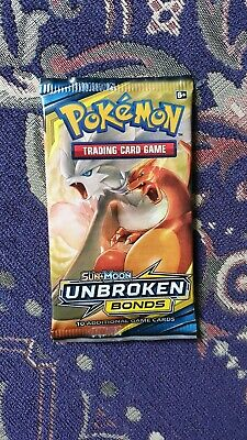 1x Pokemon Booster Pack Sun & Moon Unbroken Bonds Trading Card Game TCG
