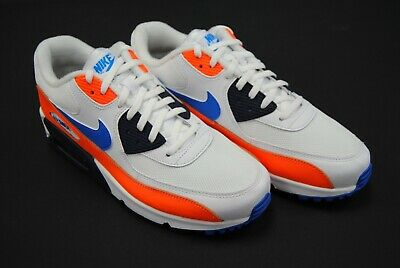 bdcf8a7e0a [Aj1285 104] New Men's Nike Air Max 90 Essential White Photo Blue Orange  Le1194