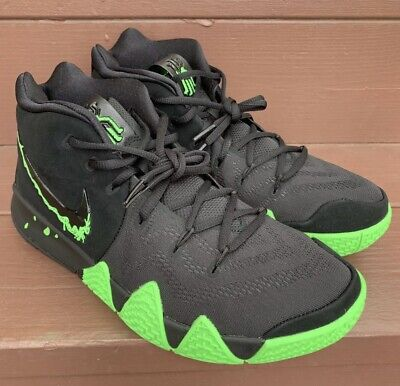 b7956f6bc219 New Men s Nike Kyrie 4 Halloween Black Rage Green Irving Shoes Size 11.5