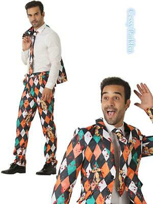 N3 Mens Stage Funny Fancy Dress STAG Stand Out Suits Horror Clown COSTUME