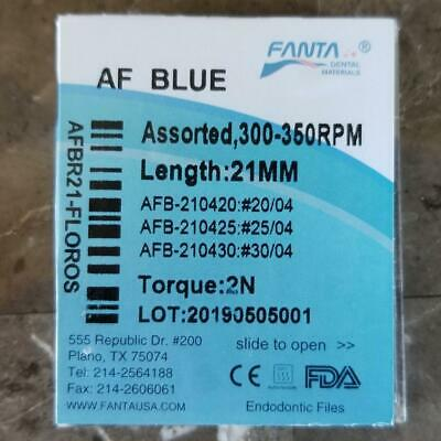 Dental Endo Rotary AF Blue NiTi Files 21 mm Root Canal USA 20/04, 25/04, 30/04
