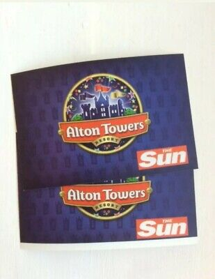 x2 Alton Towers Tickets For Sunday 14th July