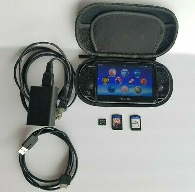 Sony PS Vita PCH-1101 3G-Wifi OLED W/Case 8GB Memory Card 2 Games Free Shipping
