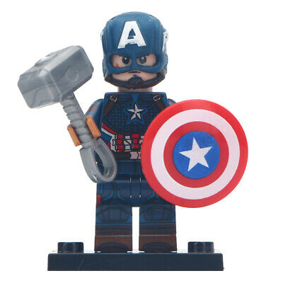 Lego Custom Captain America v2 (Avengers: Endgame) MiniFigure - Marvel Toy Kids