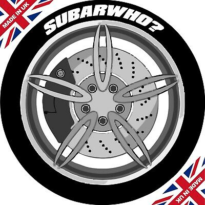 SUBARWHO? x4 / Permanent Tyre Stickers / Lettering Kit / 3D / Tire Stickers