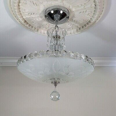 Antique Art Deco Ceiling Light Fixture Chandelier !! Outstanding !!