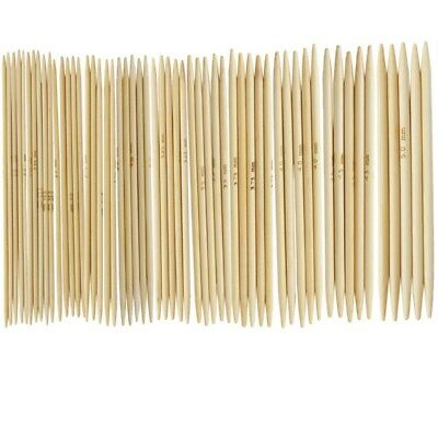 """11 Sets 4.9"""" Bamboo Knitted Gloves Knitting Needles 2,0 - 5,0 mm US 0-8 U5Y9"""