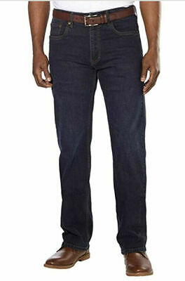 Urban Star Men's Relaxed Fit Straight Leg Jeans,  Midnight Blue, 40X30