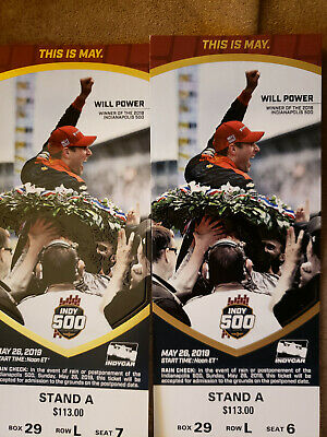 2019 Indy 500 Tickets (2 Tickets) Stand A