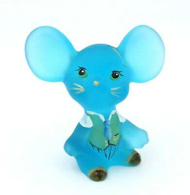 Fenton Art Glass QVC Exclusive & Limited Blue Lagoon Mouse #BH043