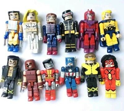 Marvel Mini Mates Collection Lot 12 Figures X-Men Wolverine Comic Book Toys Gift