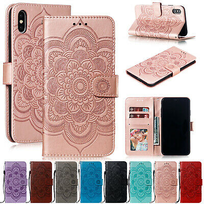 For iPhone 11 Pro Max XS XR 7 Plus 8 Case Magnetic Leather Wallet Stand Cover