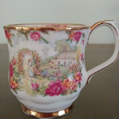 "RARE Royal Albert ""Celebration of Old Country Roses"" Coffee Mug Cup ENGLAND"