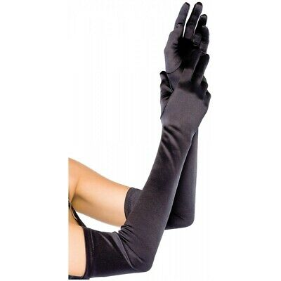 2X(Long Satin Opera Gloves for dress up, cosplay, photo props Q9X4)