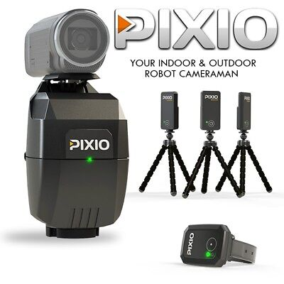 NEW PIXIO Auto-Follow Cameraman(Robot,watch and 3 beacons)Transport bag Included
