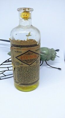 Vintage Fly Tox Bottle W/ Liquid Bottle Pesticide Bed Bugs Chicken Lice Antique