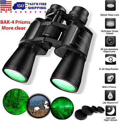 180x100 Zoom Day Night Vision Outdoor Travel Binoculars Hunting Telescope+ Case