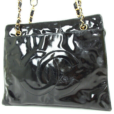 8469733e6ab7 Authentic CHANEL CC mark stitch Shoulder Bag Patent leather/leather[Used]