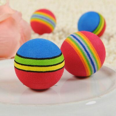 Pet Cat Kitten Soft Foam Rainbow Play Balls Funny Activity Toys