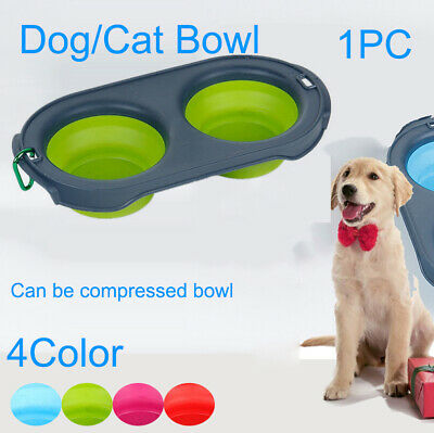 Pop-up Dog Bowl & Pet Bowl Collapsible Travel Silicone Camping Crate Dish Bowl