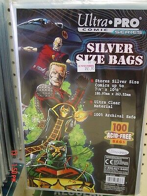 50 Ultra Pro Silver Age Bags & 50 Backers! 100% Acid Free! Pre-Made!!