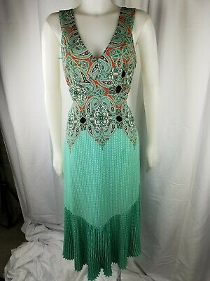 efbbdddfb7ba Anthropologie Maeve Canyon Creek Dress Woman 2 turquoise green paisley  keyhole