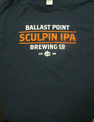 b9eb0f78 L navy blue BALLAST POINT BREWING CO t-shirt - SCULPIN IPA beer