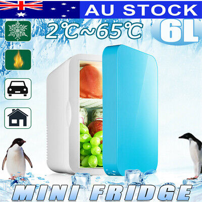 AUS 6L Car Home Dual Use Mini Fridge Travel Refrigerator Cooler Freezer Camping