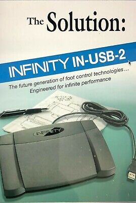 Infinity IN-USB2 Transcription USB Foot Pedal