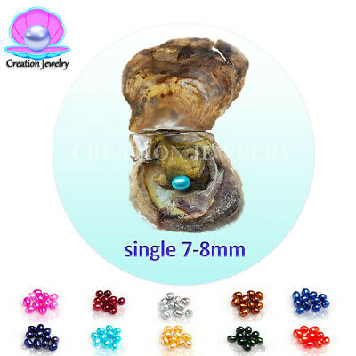 20pcs seawater/ akoya oyster single rice pearl 7-8mm mix color, license needed