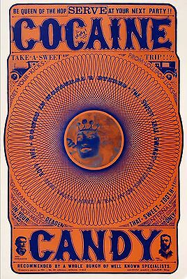Special! Set 4 Original Vintage Psychedelic Drug Posters Shipping Free