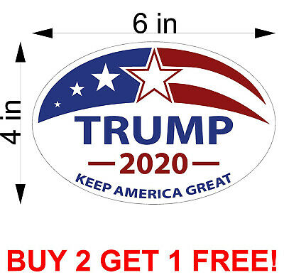 TRUMP Decal PRESIDENT 2020 Election Bumper Vinyl Sticker Keep America Great MAGA