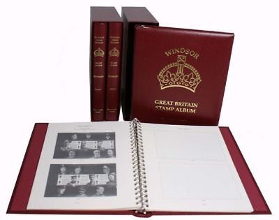 New Stanley Gibbons Windsore Elite Booklet Stamp Albums 4 Volumes Set R3424