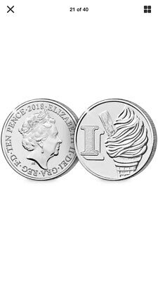 2019 Alphabet 10p Letter I Uncirculated