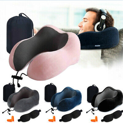 New Memory Foam U Shaped Travel Pillow Neck Support Head Rest Airplane Cushion