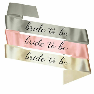 New Bride to Be Sash Hen Party Sashes Classy Accessories Decorations Gift Favour