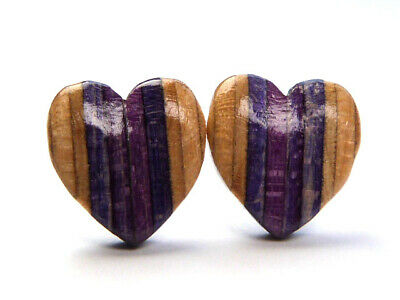 RECYCLED SKATEBOARD Wooden Stud Earrings Uk Wood Post BooHoo Fashion Handmade