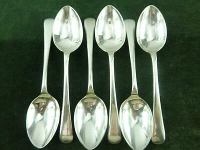 6 Vintage Ryals Dessert Spoons Old English pattern silver plated EPNS A1
